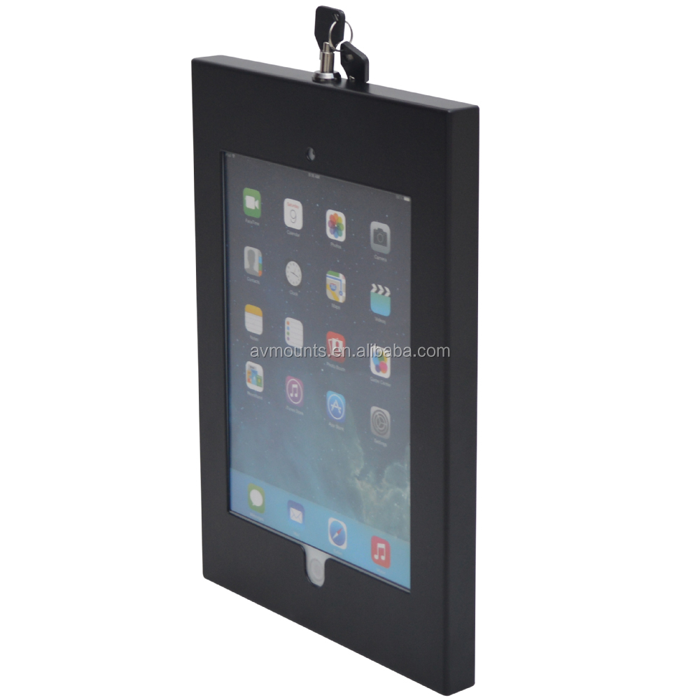 Business Use Lockable Security Metal Tablet Case For 7- 14 Inch PC