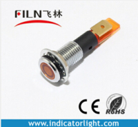 flat head 12mm Indicator Led Light 12V Red Yellow Green Blue White color