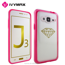 IVYMAX Factory supply high quality ultra transparent PC mobile phone cover clear hard case for samsung galaxy J3 2016