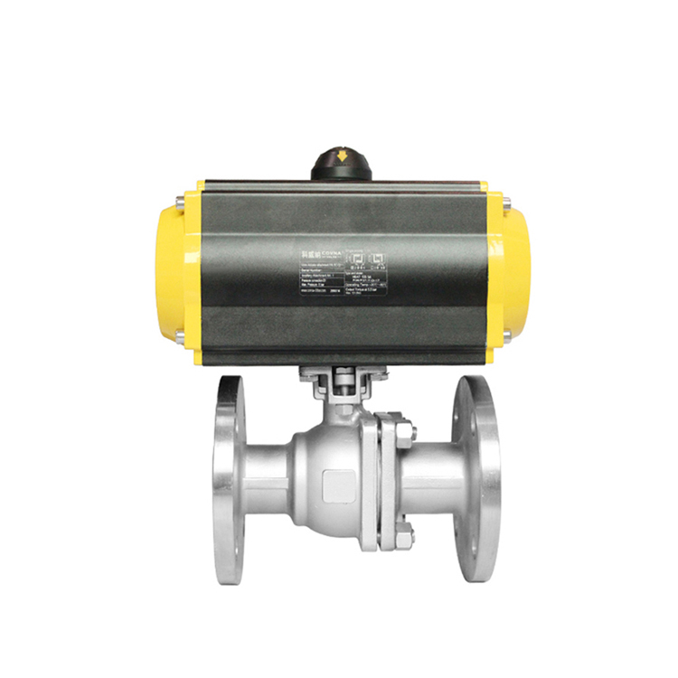 floating safety dn25 1 inch 2 way ball valve air actuated flanged ball valve