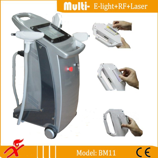 Vertical E Light(ipl+rf) For Hair Removal With Large Lcd