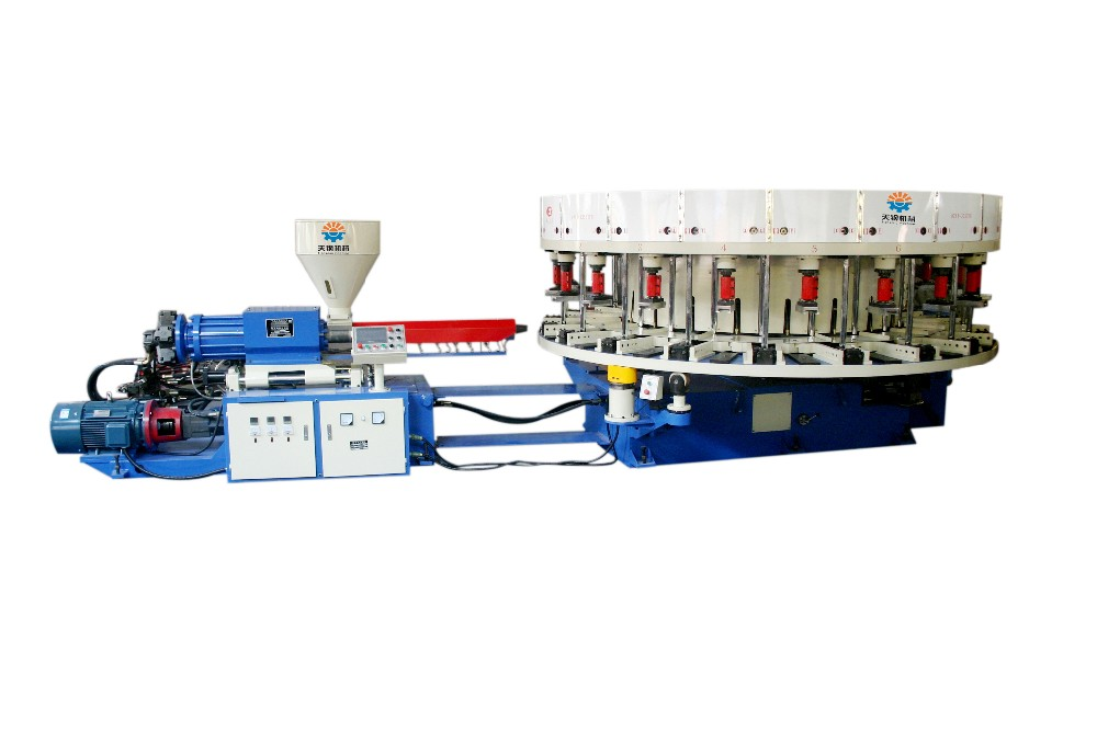 Wenzhou Tiangang TG-LB Single Color Rotary Direct PVC shoe injection moulding machine