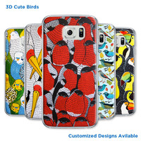Most new hard case for Samsung galaxy S6 case S3 S4 S5 mini win cute birds designs customized picture available