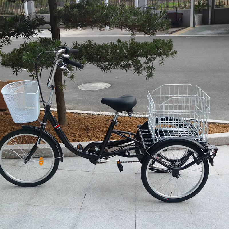 Three wheel bike 7 speeds 20 inch adult tricycle/trike for older people