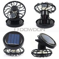 0.16W Solar Power Clip Air Conditioning Mini Rechargeable Cooling Fan