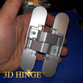 zinc alloy silver baking thick door full-concealed hinge 180 degree SG-HC3540