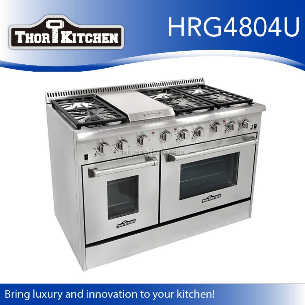 wholesale used stainless steel free standing double oven
