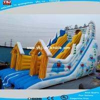Guangzhou manufacture inflatable slide for winter use/high quality Christmas theme inflatable slide