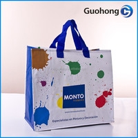 Unique design 120gsm pp woven shopping bag for gift