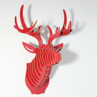 2016 New design wooden deer head wall hang decoration