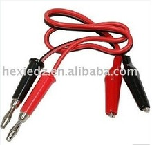 4mm Banana Plug to Crocodile Clamp Charger Cable