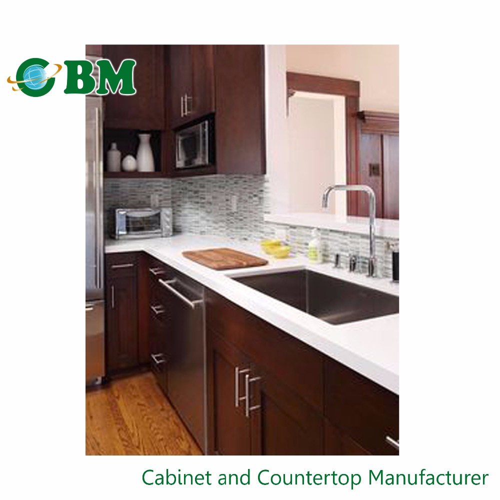 Fuzhou cbm new design ready made kitchen cabinet with sink for Ready made kitchen cupboards