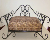 comfortable custom metal frame dog sofa bed luxury wrought iron best selling pet dog and cat bed