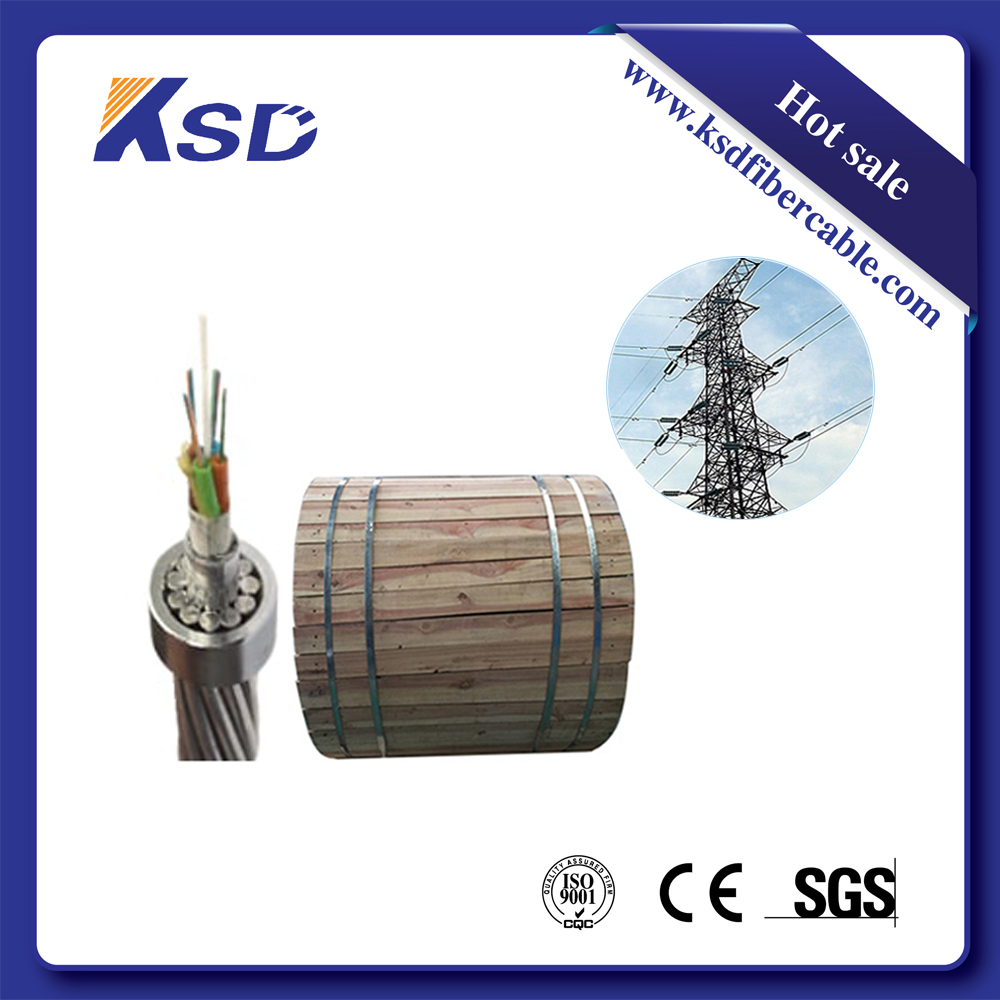 OPGW Electric Power Cable 24 Core Fiber Optical Cable Ground Wire