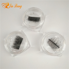 Micro-magnet Reusable False Eye Lashes New Fashion Permanent Magnetic Lash with Round Lash Box