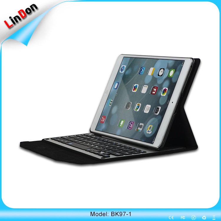 For iPad pro 9.7 inch bluetooth keyboard leather case ultra-thin keyboard case for ipad pro BK97-1