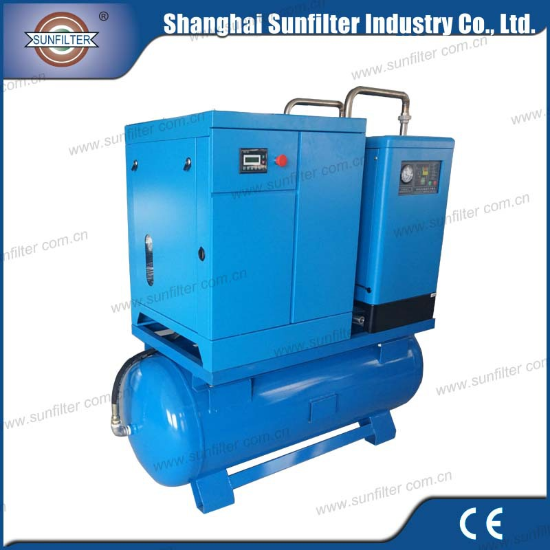 10hp 7.5kw Combined Screw Air Compressor for air compressor for mining