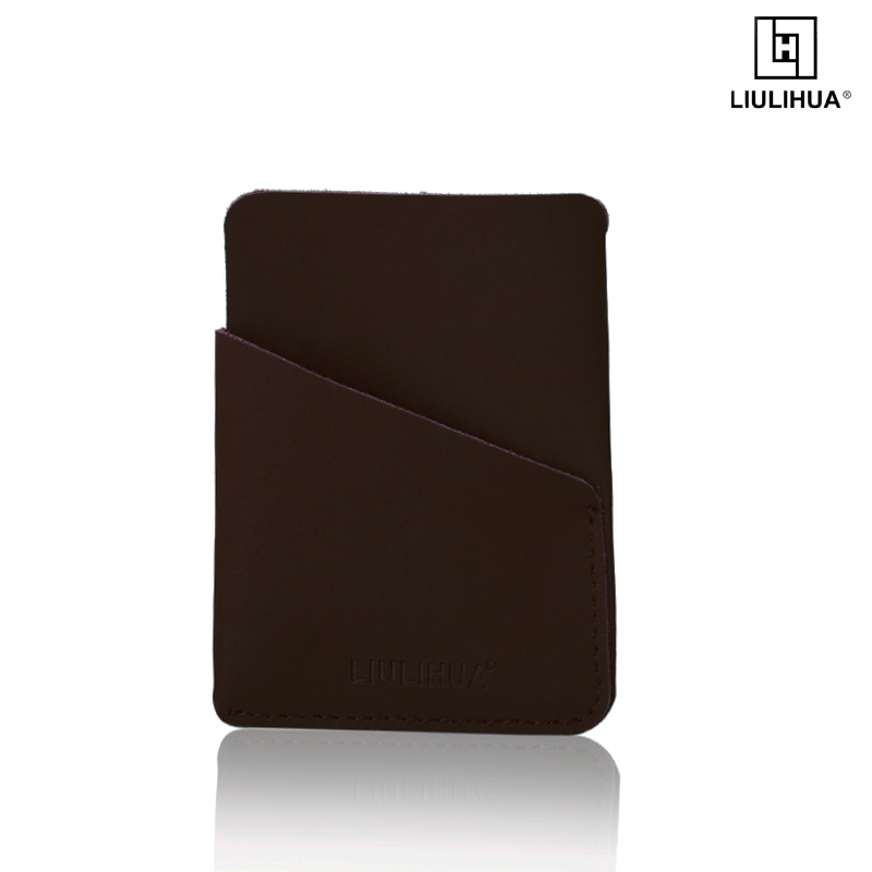 LLH Factory Smart card wallet ultrathin mini wallet for leather business cowhide leather id card holder