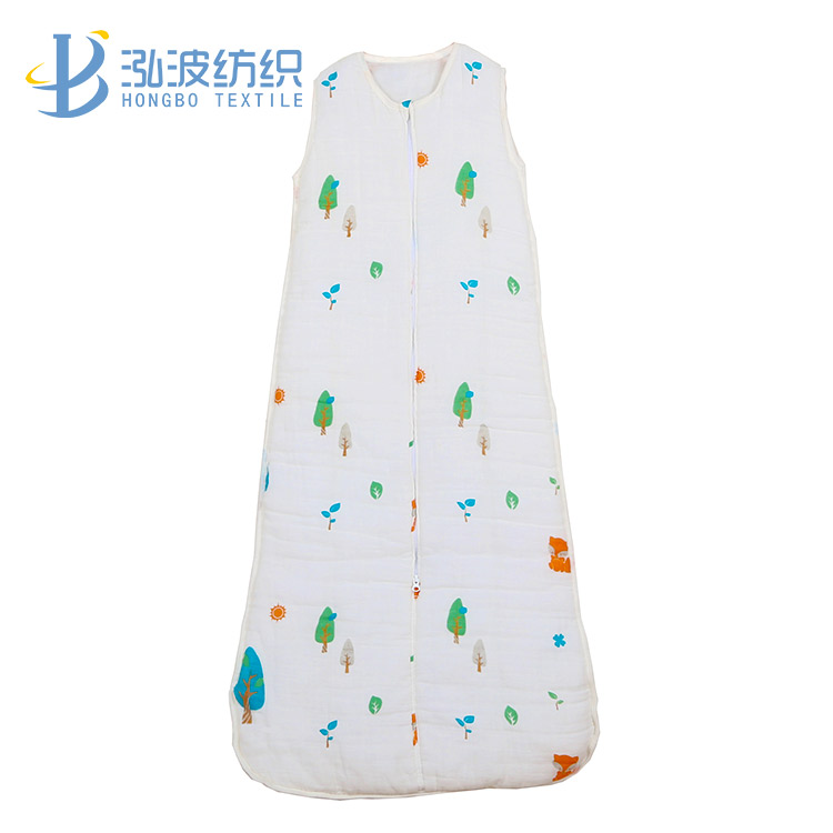 3.5 tog layer gauze muslin baby sleeping bag
