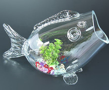 crystal clear new design glass fish tank new design fish shape glass fish tank