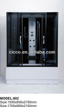 DELUXE TEMPERED GLASS STEAM SHOWER CABINS FS802