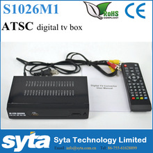 SYTA Full HD 1080p PVR Digital ATSC TV Box Receiver support USB Converter Box For Mexico/USA/Canada S1026M1