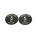 Custom logo black soft rubber label patch for sale