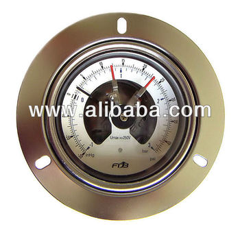 Electrical Contact Pressure Gauges IP67 with Front Flange