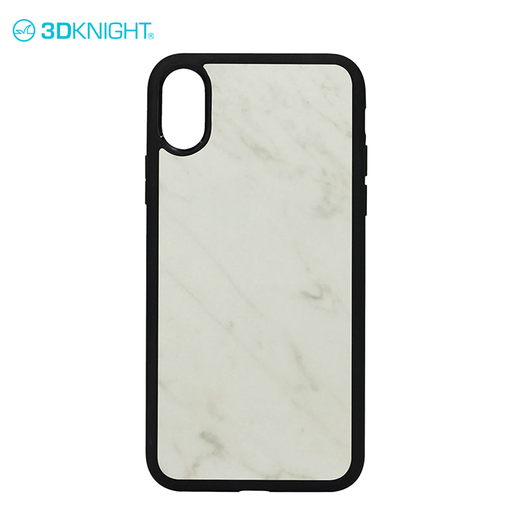 Natural real marble white for iphone 8 cover case