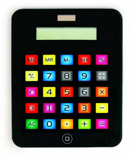 Portable Touch Screen Calculator/Apple Tablet Shaped Solar Calculator Calculator