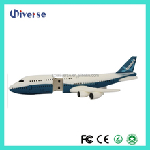 Design hotsell pvc 3d air plane shape pen drive brand names,128 gb usb flash drive 3.0,custom usb flash drive