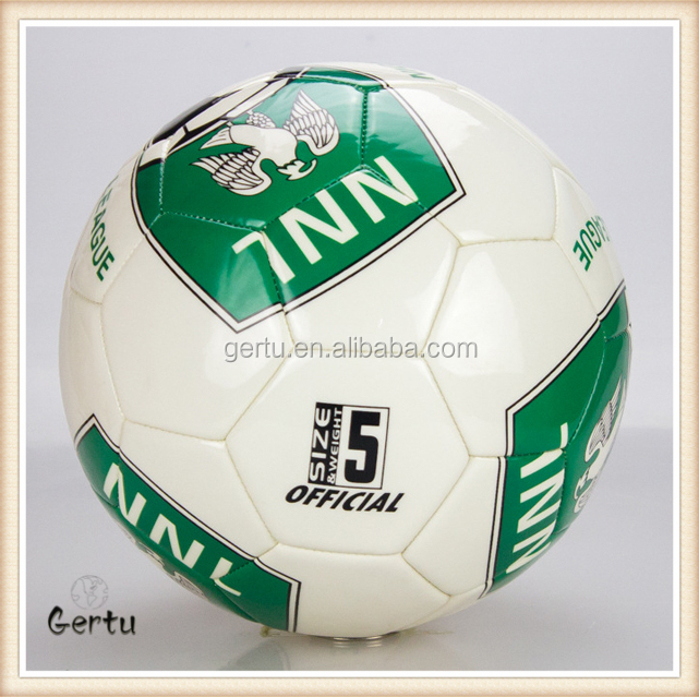 Top quality soft TPU leather soccer balls/football souvenirs