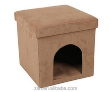 Suede fabric pet house