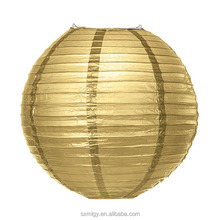 Gold and Silver Round Paper Lantern