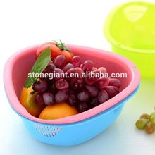 New Arrivel colorful blue green pink plastic handy baskets