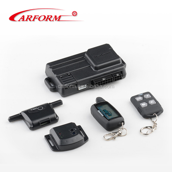 New Arrival 2-way car alarm A6 Plus, 2-way LCD display,anti-hijack two way security system