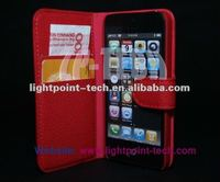 Genuine Cow Leather Case Wallet Case for iPhone 5
