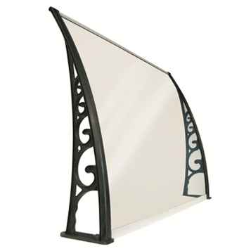 Aluminum frame retractable balcony awning arch roof polycarbonate awning canopy