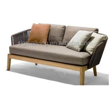 New design high quality patio furniture double sofa rope sofa for sale
