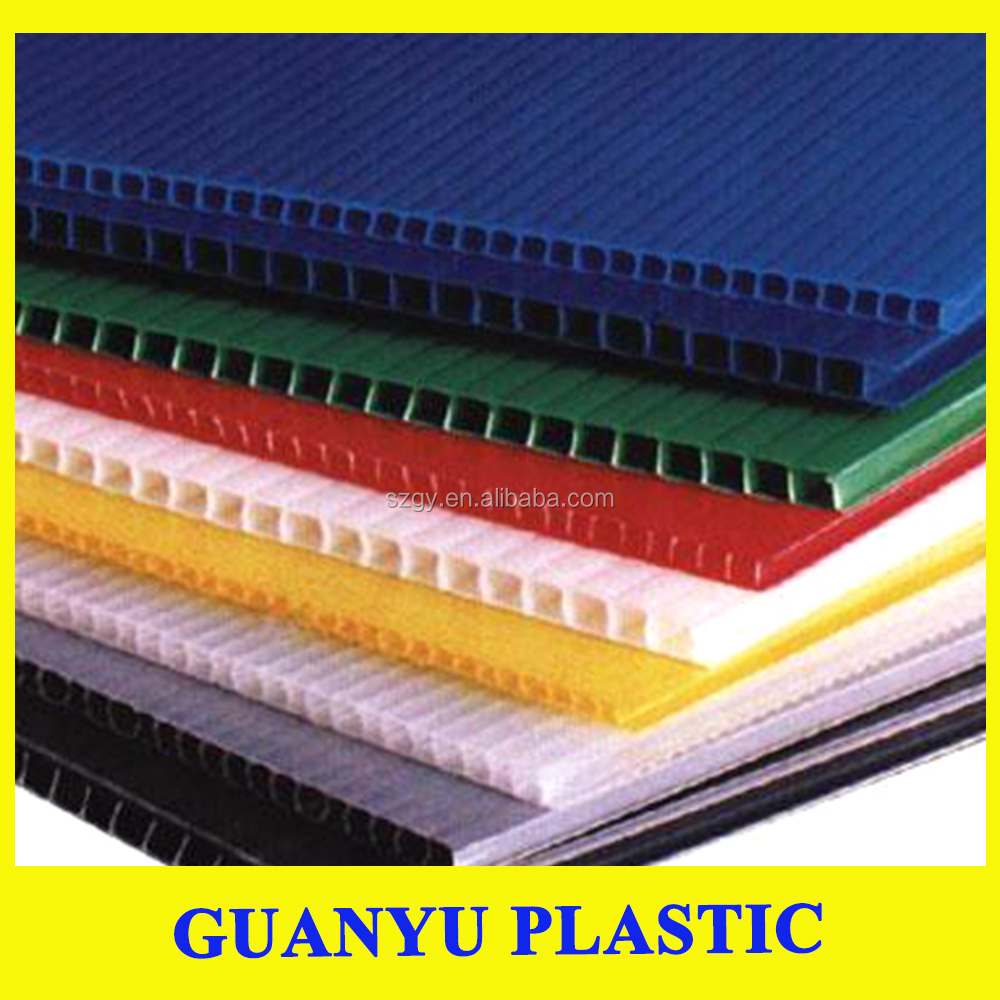 2-8mm Thickness PP corrugated sheet / PP Material Plastic Board