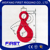 High strength G80 European type eye safety metal hook