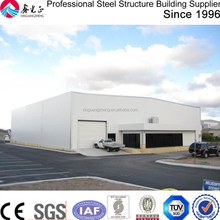 large span prefabricated building system hangar steel structure