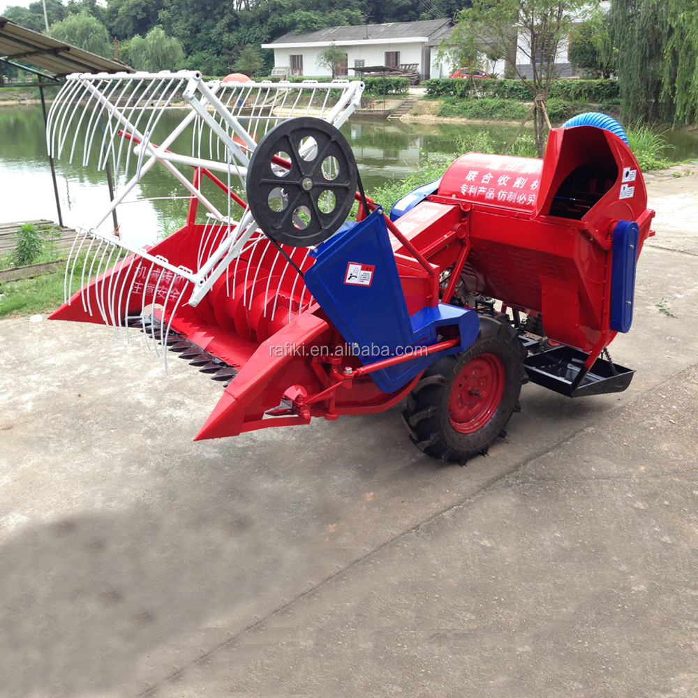 Mini Rice Farming Machinery Combine Harvester For Wheat And Rice