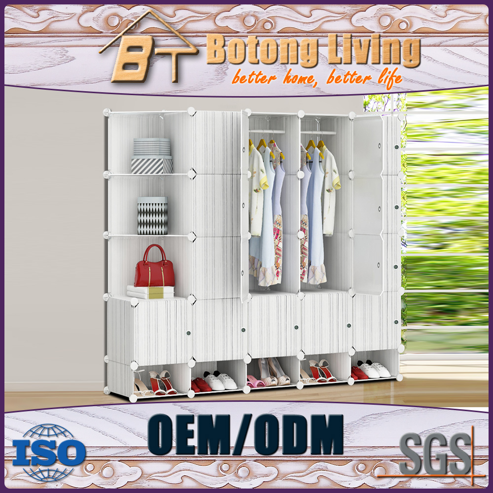 China assemble plastic portable wardrobe closet of National Standard