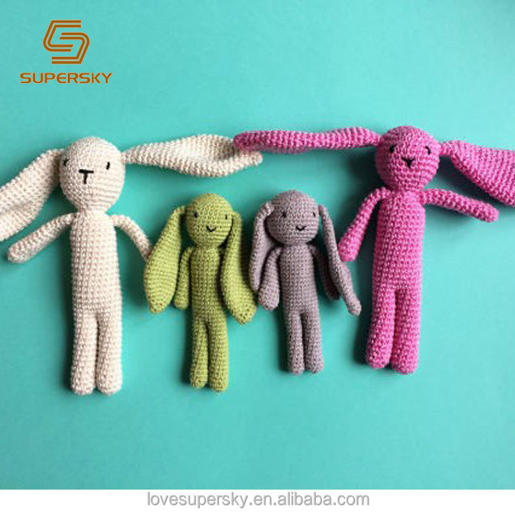 M300 Crochet bunny toy beige toy easter gift for kids/baby crochet <strong>rabbit</strong>