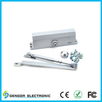 Automatic door closer pistons with 90 degree positioning for home doors