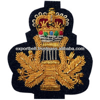 Royal music major blazer badges | Hand Embroidery Bullion badges | Gold Wire Crests