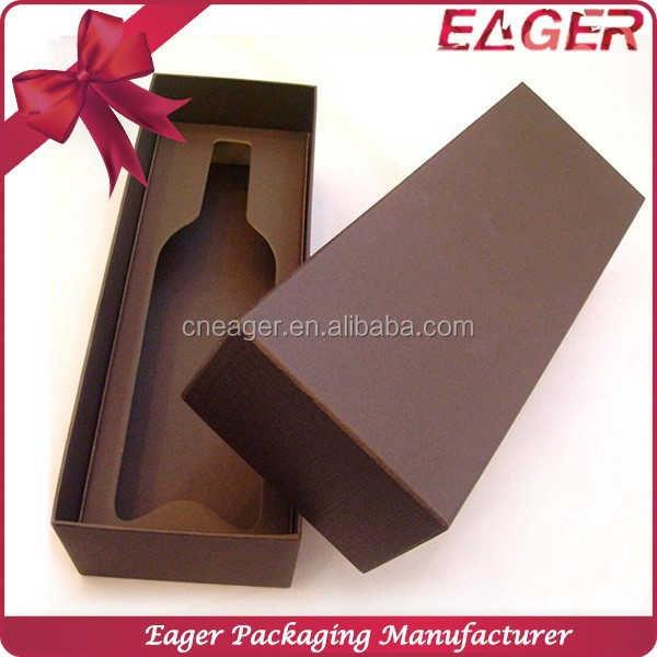 Single bottle red wine box for gift packaging, paper wine packaging box