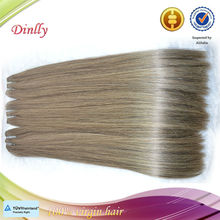 2014 new arrival grey human hair weaving for old women