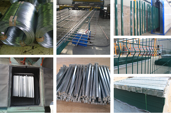 Different Colors PVC Coated Welded Wire Mesh Fence
